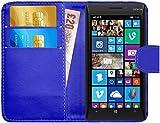 G-Shield Hülle für Nokia Lumia 930 Klapphülle mit Kartenfach - Blau