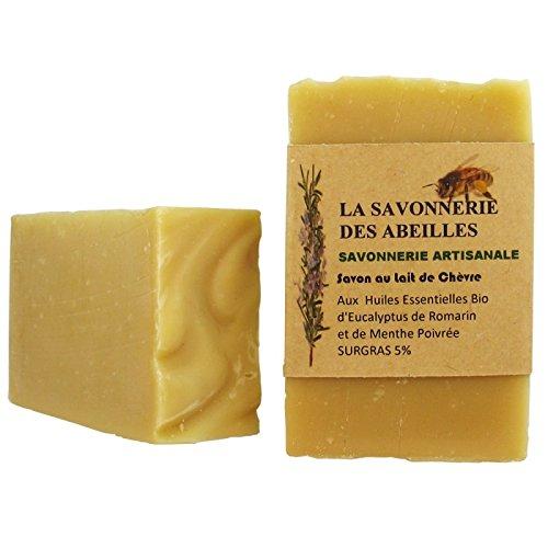 Savon au lait de Chèvre Frais Bio - La Savonnerie Des Abeilles - Savon Artisanal - 100gr