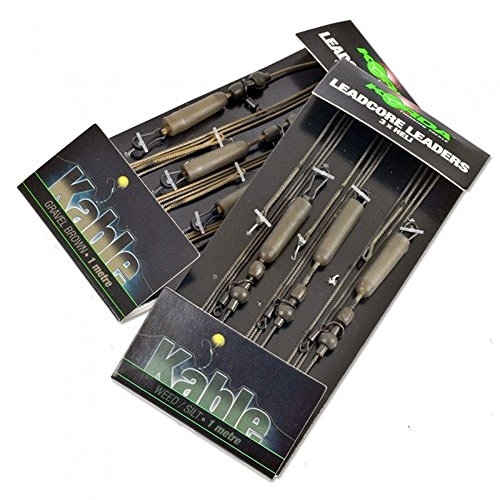 Korda Ready-Tied Leadcore Helicopter Leaders 1m: Weed [Misc.] by Korda