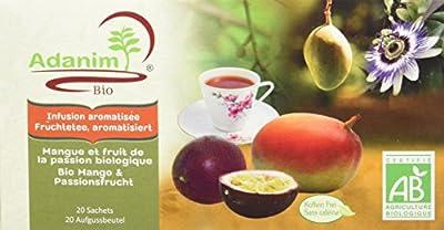 Moulin des Moines Infusion Plantes et Fruits Mangue Passion Bio 30 g - Lot de 4