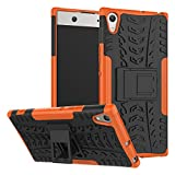 OFU Pour Sony Xperia XA1 Ultra 6.0' Smartphone coque,Combo armure drop résistance silicone Pour Sony Xperia XA1 Ultra 6.0' coque de protection support de téléphone(orange)