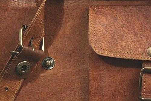Vintage Genuine Leather Laptop Briefcase messenger satchel bag Handmade
