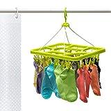 Artmoon Remark Clip Trockengestell für Unterwäsche und Socken mit 24 Starken Wäscheklammern 38.5 X 35 X 29.5 cm