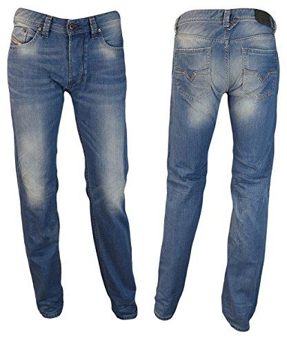 Diesel Jeans Pantaloni Uomo Larkee 0842P Regolare Dritto - blu, 30W / 32L
