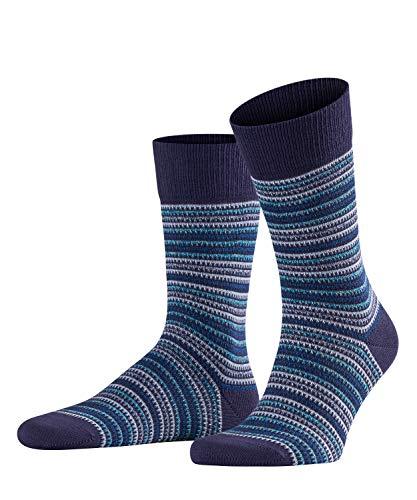 FALKE Herren Multi Stripe Socken, Mehrfarbig (Blueberry 6743), 43/46 -
