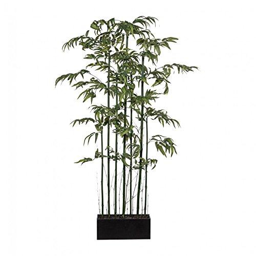 Bambusraumteiler Paravent 'Mix' Kunstpflanze 180 cm mit Naturstamm