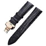 20mm Uhrenarmband echtes Leder Uhrenarmbänder für Männer Frauen Ersatzarmband Armband braun mit Roségold Verschluss