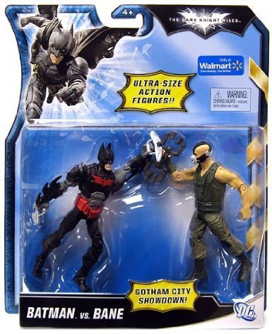 Batman Figuren Set Batman und Bane - Gotham City Showdown - bewegliche Figuren mit Waffen (Gotham City Showdown)