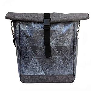 3in1 Fahrradtasche wasserdicht, Gepäckträgertasche, Umhängetasche & Rucksack | Umhängetasche Diamant | Weihnachtsgeschenk | Fahrradtasche mit Klickfix Vario