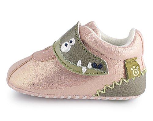 cartoonimals Babyschuhe Mädchen Jungen Neugeborene Weiche Rutschsicheren Baby Kinder Schuhe Croco Glitter Pink #19