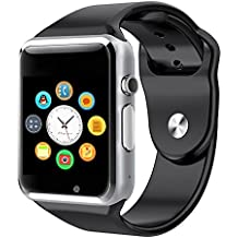 yassina Smart muñeca reloj teléfono bluetooth resistente al agua para Android Samsung iPhone Sleep vigilancia (negro)
