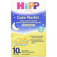 Hipp Gute Nacht Milch-Getreide-Mahlzeit aus Bio-Folgemilch und Bio-Getreide, 500 g