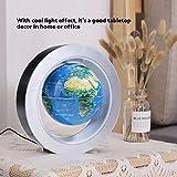 o forma galleggiante Globe mappa del mondo, 15,2cm con luci a LED rotante-Campo magnetico Levitazione istruzione globo per casa ufficio decorazione Uk Plug