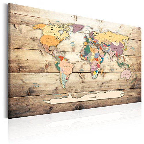 Pin map amazon pinboard map 90x60 cm 354 by 236 in 3 colours to choose image printed on non woven canvas with cork backing poster pin board world map gumiabroncs Image collections