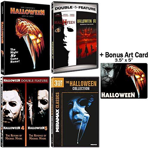 Halloween: Complete 8 Movie DVD Collection with Bonus Sticker