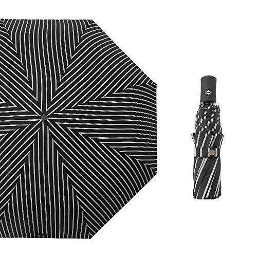 PZXY Regenschirm Automatische sonnigen Regen niedliche Kleine frische UV Schutz Sonnenschutz schwarz Kunststoff Sonnenschirm 58 * 97cm