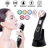6 Modes Ultrasonique LED Lumière Appareil de Beauté Mésothérapie de Appareil de Massage du Visage avec USB Rechargeable Anti Rides Anti-âge Acné Serrage Rajeunissement avec Fonction ION, RF & EMS