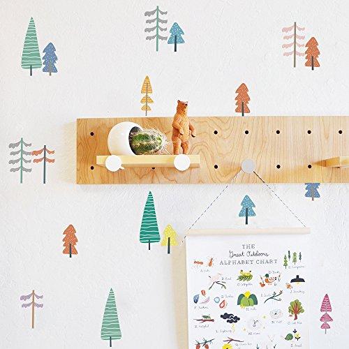 DIY Cartoon Decor Wandsticker Nordic Style Mehrfarbig Kinderzimmer Schlafzimmer Kindergarten Hintergrund Home Decor Sticker A5 (12,7 x 21,1 cm) x 12 Blatt