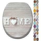 Abattant WC - Grande sélection de abattants wc en bois - Finition de haute qualité (Home)