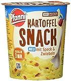 Pfanni Snack Kartoffelpüree mit Speck und Zwiebeln 1 Portion, 8er Pack (8 x 58 g)