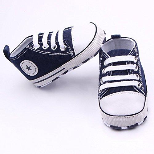 First Star Crib Schuhe (Etrack-Online , Baby Jungen Lauflernschuhe Blau blau 0-6 Monate)