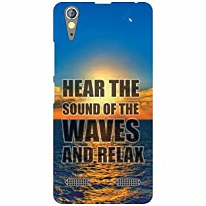 Lenovo A6000 Back Cover - Sound Of Waves Designer Cases