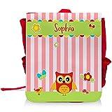 Kinder-Rucksack mit Namen Sophia und schönem Eulen-Motiv für Mädchen