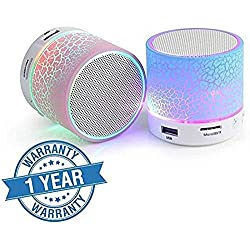 Captcha Wireless LED Bluetooth Speakers S10 Handfree With Calling Functions & FM Radio For All Android & iPhone Smartphones (Assorted Colour)