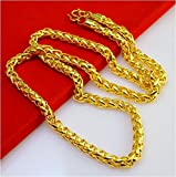 #9: 24 Carat Gold Rhodium and Gold Plated Brass Chain for Men AUGUST1411
