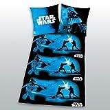 Herding 448568050 Star Wars Bettwäsche, Kopfkissenbezug 80 x 80 cm + Bettbezug 135/200 cm, Renforce