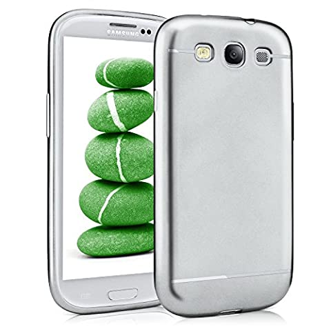 Samsung Galaxy S3 Hülle Silikon Silber [OneFlow Smooth Back-Cover] Chrom Matt Silikonhülle Ultra-Slim Schutzhülle Metallic Handy-Hülle für Samsung Galaxy S3 / S III Neo Case (Galaxy S3 Display Kaufen)