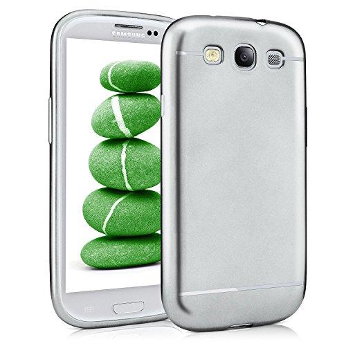 Smooth Case per Samsung Galaxy S3 / S3 Neo | Custodia in silicone con effetto metallizzato opaco | Thin Sacchetto di protezione cellulare OneFlow | Backcover in Platin-Silver
