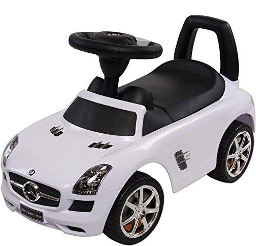 Rutschauto Rutscher Bobby car Mercedes-BENZ SLS AMG Kinder Auto Baby Car mit Sound (WEISS) - 4