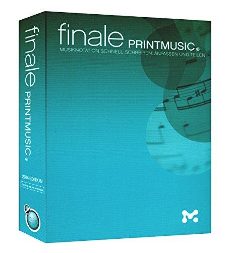 Finale PrintMusic® 2014 - die ideale Musik-Notationssoftware für alle Lehrer, Dozenten, Musiker, Komponisten und Arrangeure [für Windows und Macintosh]