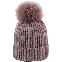 ZXGJMZ Cappelli Invernali per Le Donne Berretti di Lana Lavorati a Maglia  Stylich Ragazze Caldi Cappelli b9c79cda23df