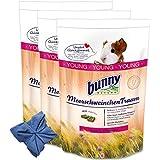 3 x 4 kg Bunny Meerschweinchen Traum Young Meerschweinchenfutter+ Microfasertuch