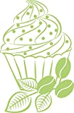 GRAZDesign 620391_30_822 Wandtattoo Cupcake mit Herz | Küche mit Klebefolie dekorieren | Für Küchen-Wände - Bäckereien - Cafeteria | selbstklebende Klebefolie für Schränke - Fliesen - Möbel (46x30cm // 822 water lilly)