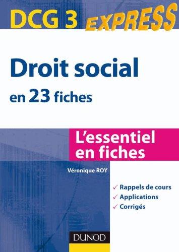 Droit social DCG 3 - en 23 fiches