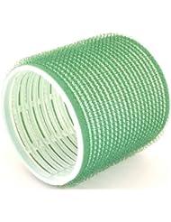 Hair Tools - Pack de 6 Rouleaux Velcro pour Cheveux - Taille Jumbo - 61mm - Vert