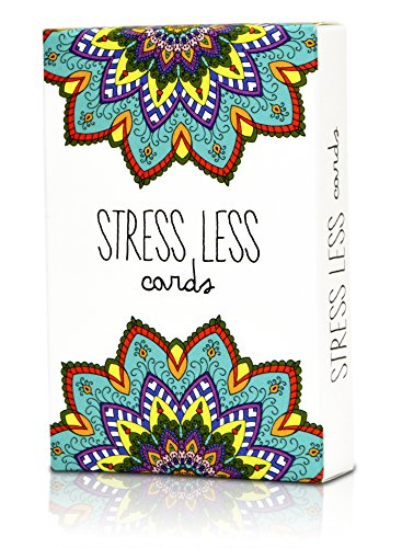 Stress Less Cards - 50 Inspirational Mindfulness & Meditation Exercises | Helps Relieve Stress, Anxiety | Natural Relaxation, Insomnia & Sleep Aid
