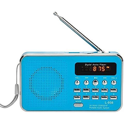 iMinker portátil Mini Digital Puerto del disco de tarjetas USB FM altavoz de radio Medios reproductor de música MP3 TF / SD para la PC iPod Teléfono con pantalla LCD y la batería recargable