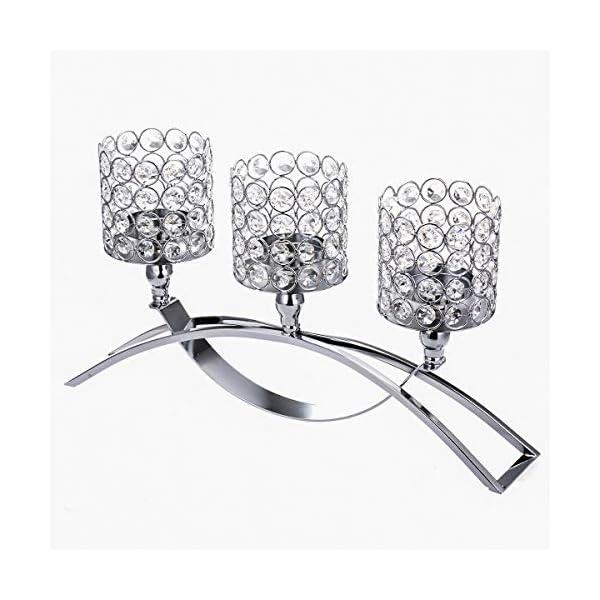 ManChDa 3 Brazos de Cristal candelabros Manga para centros de Mesa de Boda decoración del hogar Regalos para Navidad…