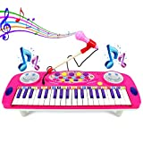 ASTOTSELL Kinder Klavier, 37 Tasten Elektrische Orgel Multifunktions Kinder Tastatur Klavier Musikinstrument mit Mikrofon