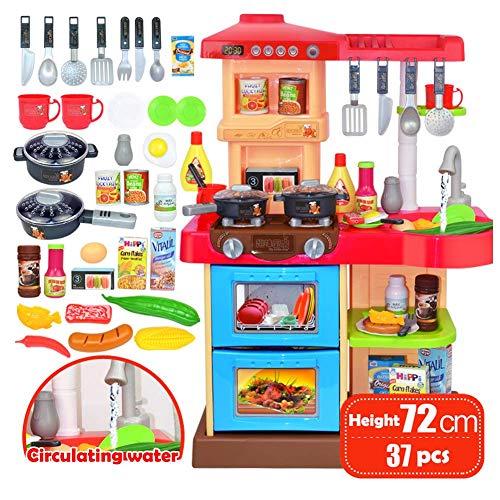 Set für Kinder Simulation Geschirr Kleinkind-Simulation Küchenspielset Eltern-Kind-Rolle Spielen Sie interaktives Spielzeug Casual Lernspielzeug für Kinder, Red ()