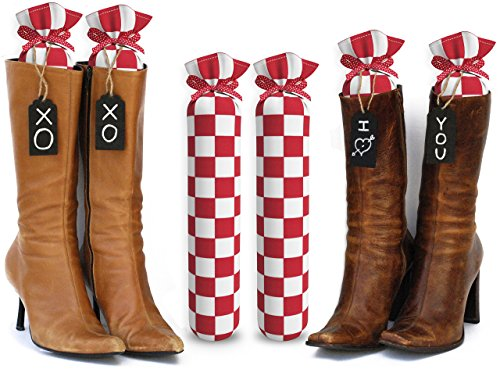 my-boot-trees-boot-shaper-stands-checkers-15-inches-tall-red-white-checkers