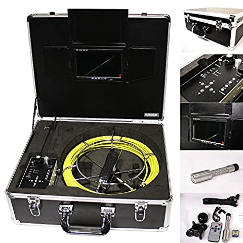 AREBOS® Professionnelle Camera d'inspection de canalisation compris moniteur et coffret