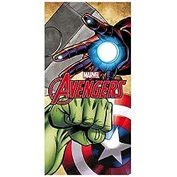 Artesanía Cerdá-2200002156 Toalla Playa algodón, diseño Los Vengadores (Avengers), Estampado, Color 001, 3 (Tamaño del Fabricante:M) (2200002156