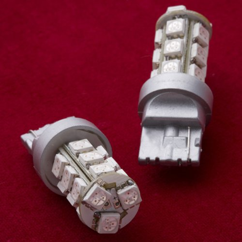 Preisvergleich Produktbild VALENTI Jewel LED Leuchtmittel Hohe Helligkeit 18 LEDs (3 Chip SMD) T20 Single (Sockel: WX3 × 16D Typ) Bernstein t20s-a1854–1