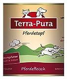 Terra Pura Pferdetopf 800 g Hunde- und Katzenergänzungsfutter, 6er Pack (6 x 800 g)