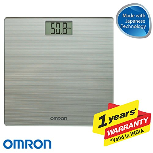 Omron HN 286 Ultra Thin Automatic Personal Digital Weight Scale With Large LCD Display and 4 Sensor Technology For Accurate...